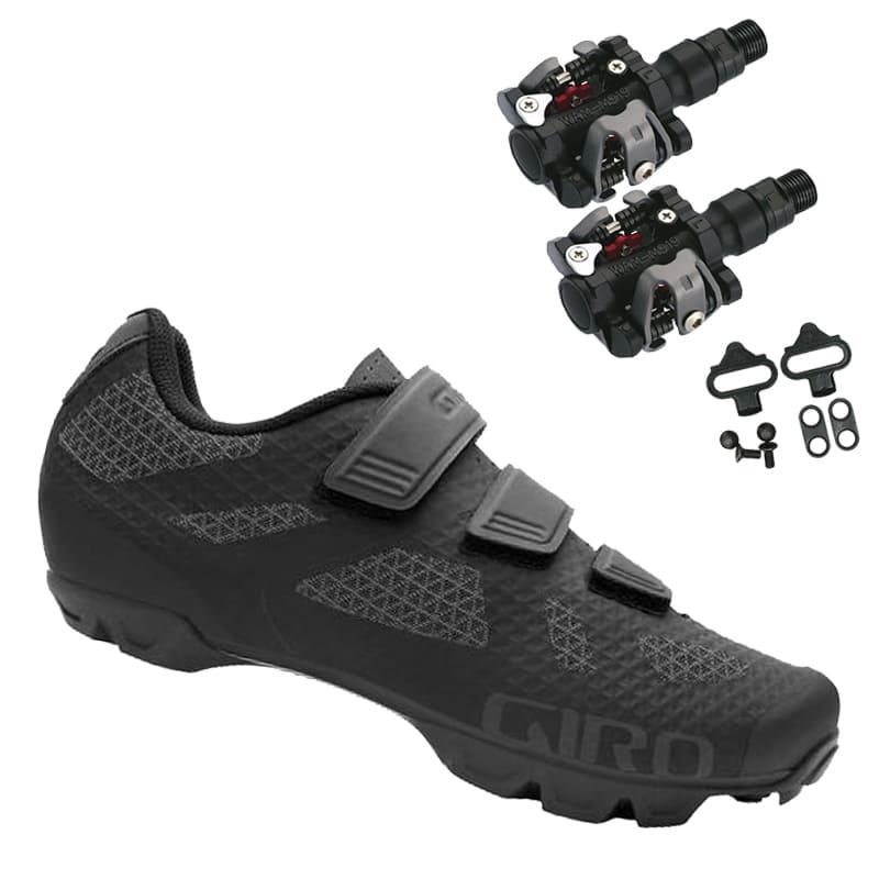 Sapatilha Mtb Ciclismo Giro Ranger Preta + Pedal Wellgo M919