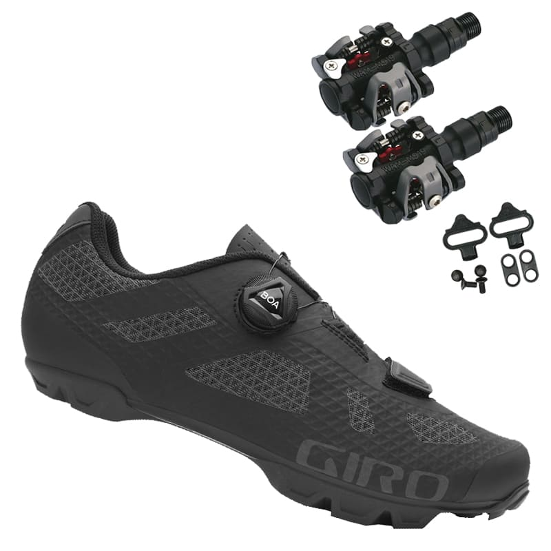 Sapatilha Mtb Ciclismo Giro Rincon Preta + Pedal Wellgo M919