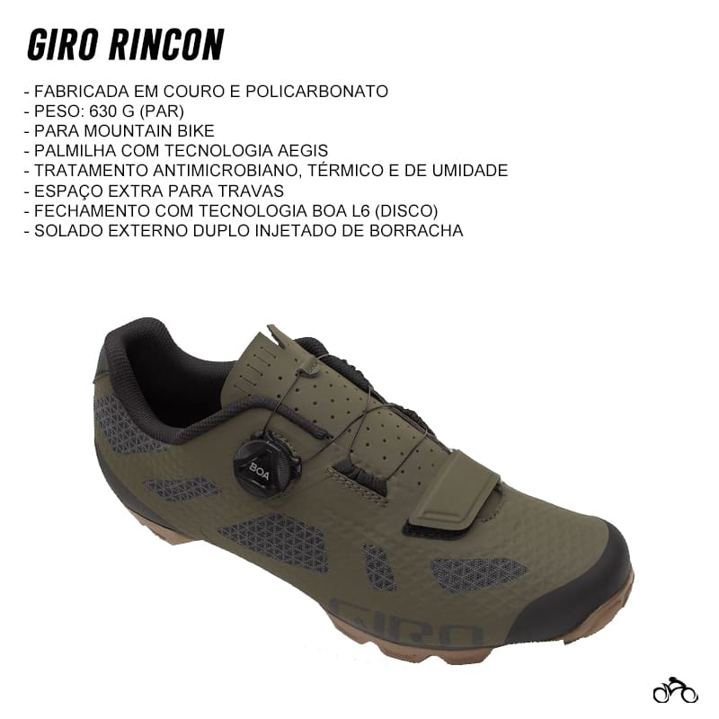 Sapatilha Mtb Ciclismo Giro Rincon Verde + Tacos Mtb