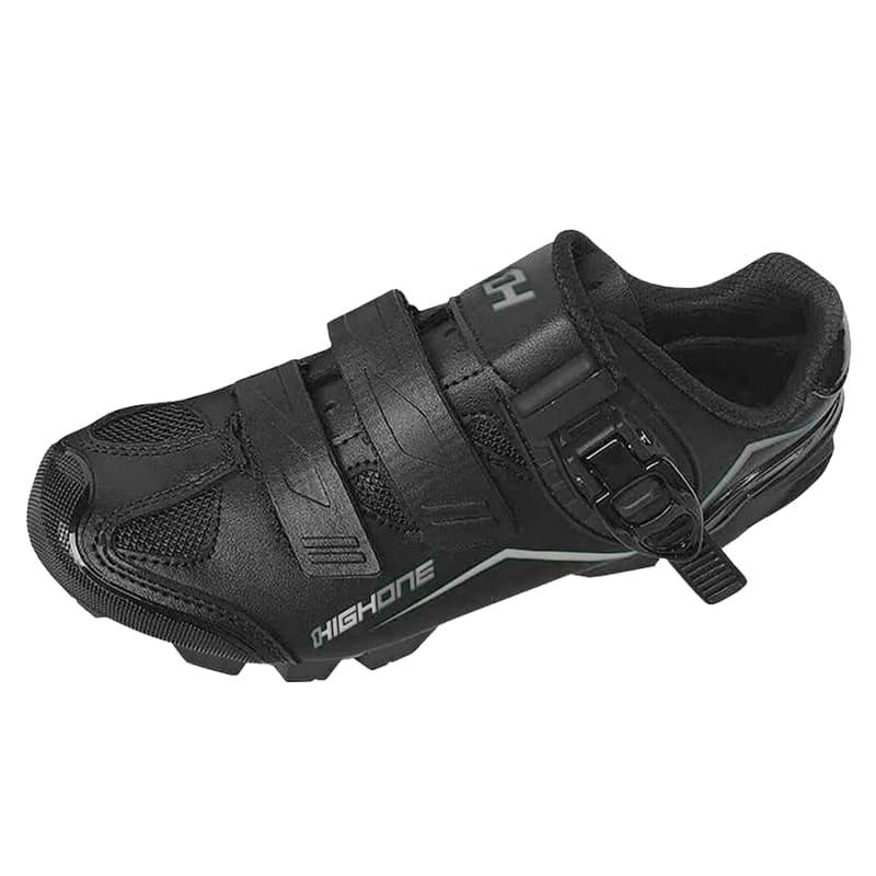 Sapatilha Mtb Ciclismo High One Feet Preta + Pedal Shimano M530