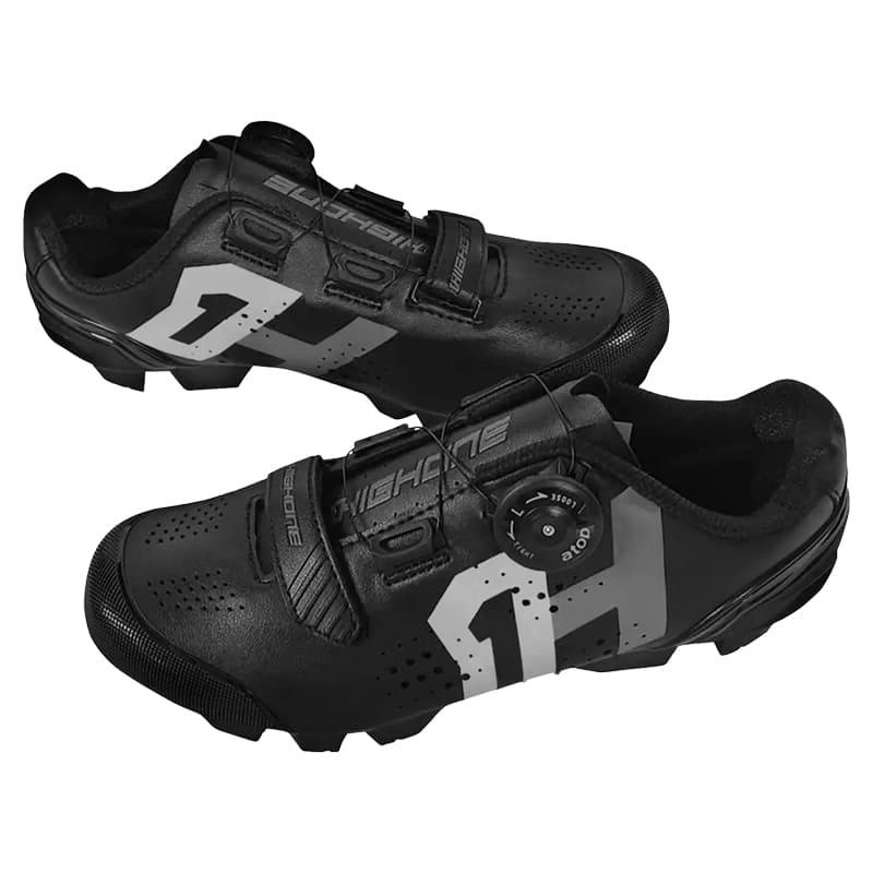 Sapatilha Mtb Ciclismo High One Lock Preta + Pedal Shimano M520