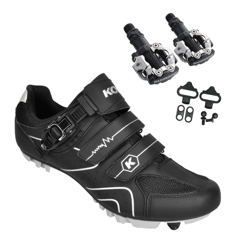 Sapatilha Mtb Ciclismo Kode Attack Preta + Pedal Shimano M520