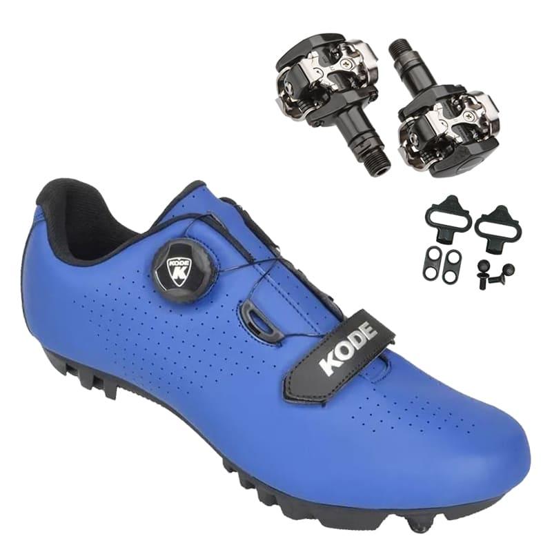 Sapatilha Mtb Ciclismo Kode Enduro Azul + Pedal Shimano M505