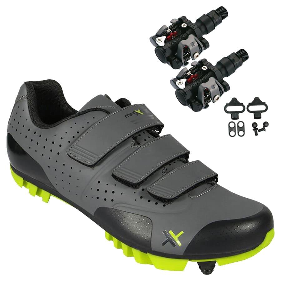 Sapatilha Mtb Ciclismo Mattos Tt II Amarela + Pedal Wellgo M919