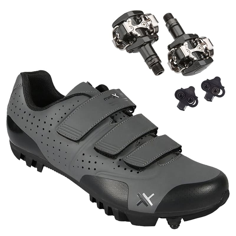 Sapatilha Mtb Ciclismo Mattos Tt II Cinza + Pedal Shimano M505