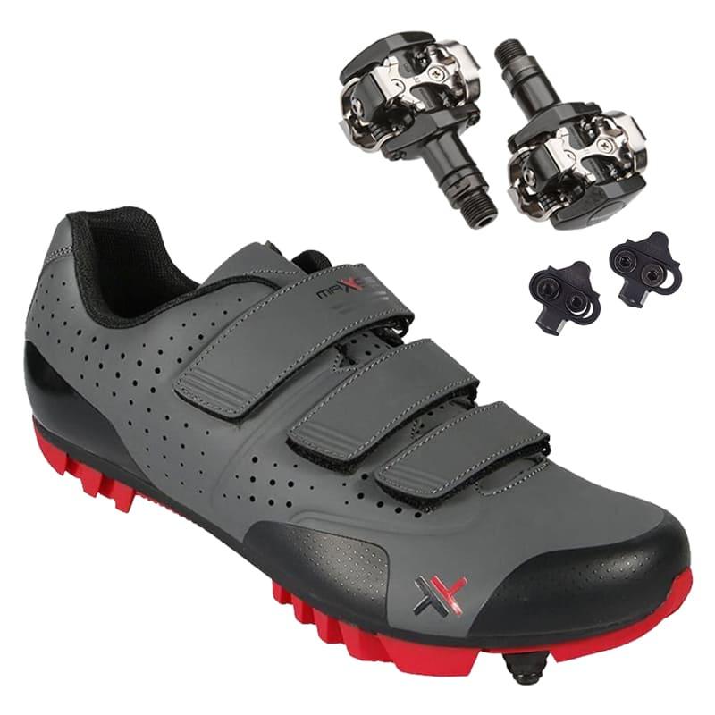 Sapatilha Mtb Ciclismo Mattos Tt II Vermelha + Pedal Shimano M505