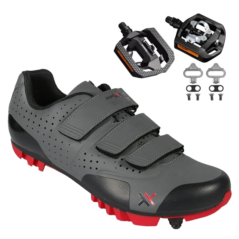 Sapatilha Mtb Ciclismo Mattos Tt II Vermelha + Pedal Shimano T421