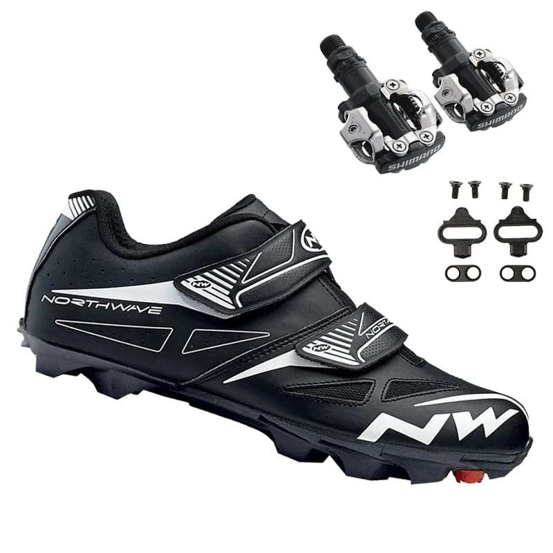 Sapatilha Mtb Ciclismo Northwave Spike Evo Preta + Pedal Shimano M520
