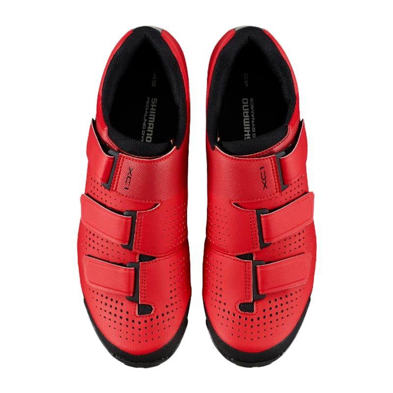 Sapatilha Mtb Ciclismo Shimano Xc100 Vermelha + Pedal Shimano M530