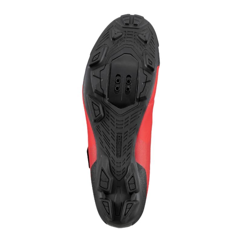 Sapatilha Mtb Ciclismo Shimano Xc100 Vermelha + Pedal Wellgo C2 Plataforma