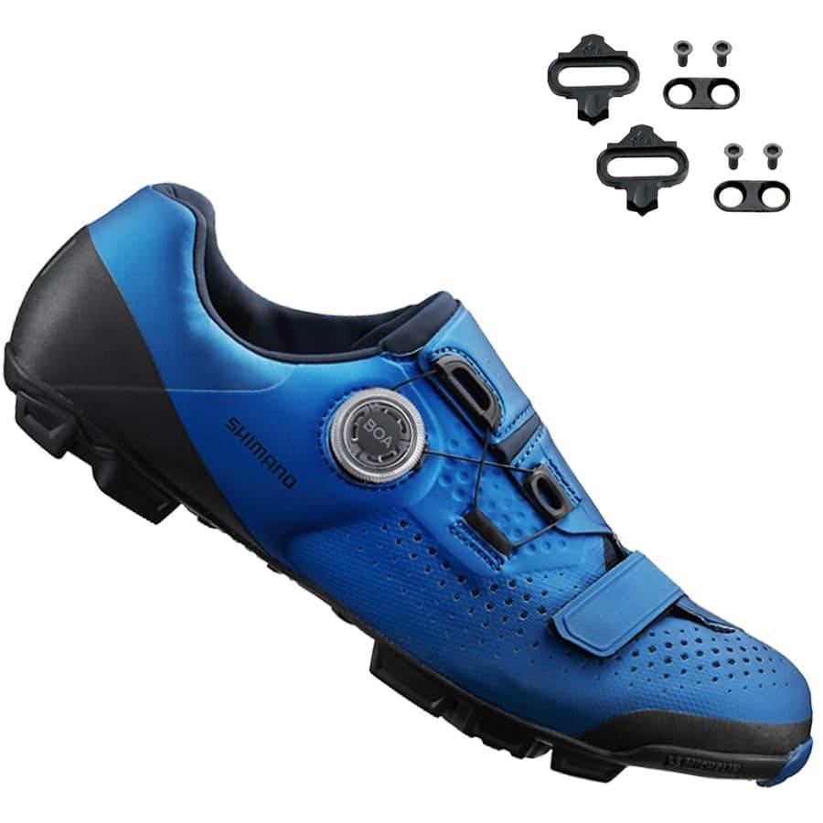 Sapatilha Mtb Ciclismo Shimano Xc501 Azul + Tacos Mtb