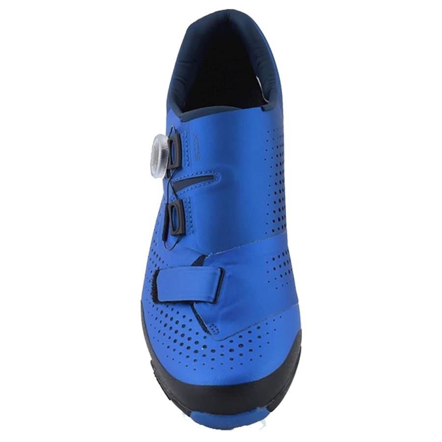 Sapatilha Mtb Ciclismo Shimano Xc501 Azul + Pedal Wellgo M919