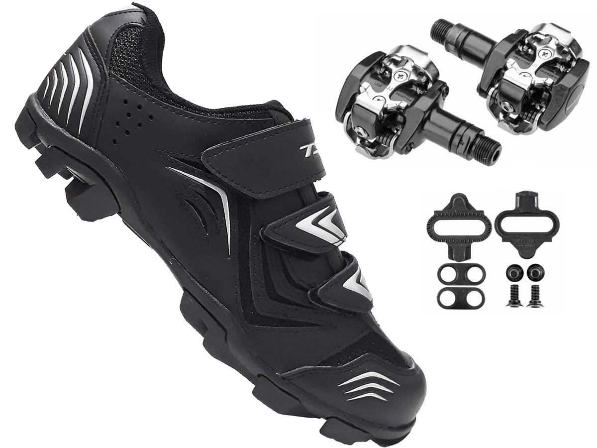 Sapatilha Mtb Ciclismo Tsw New Fit + Pedal Shimano M505