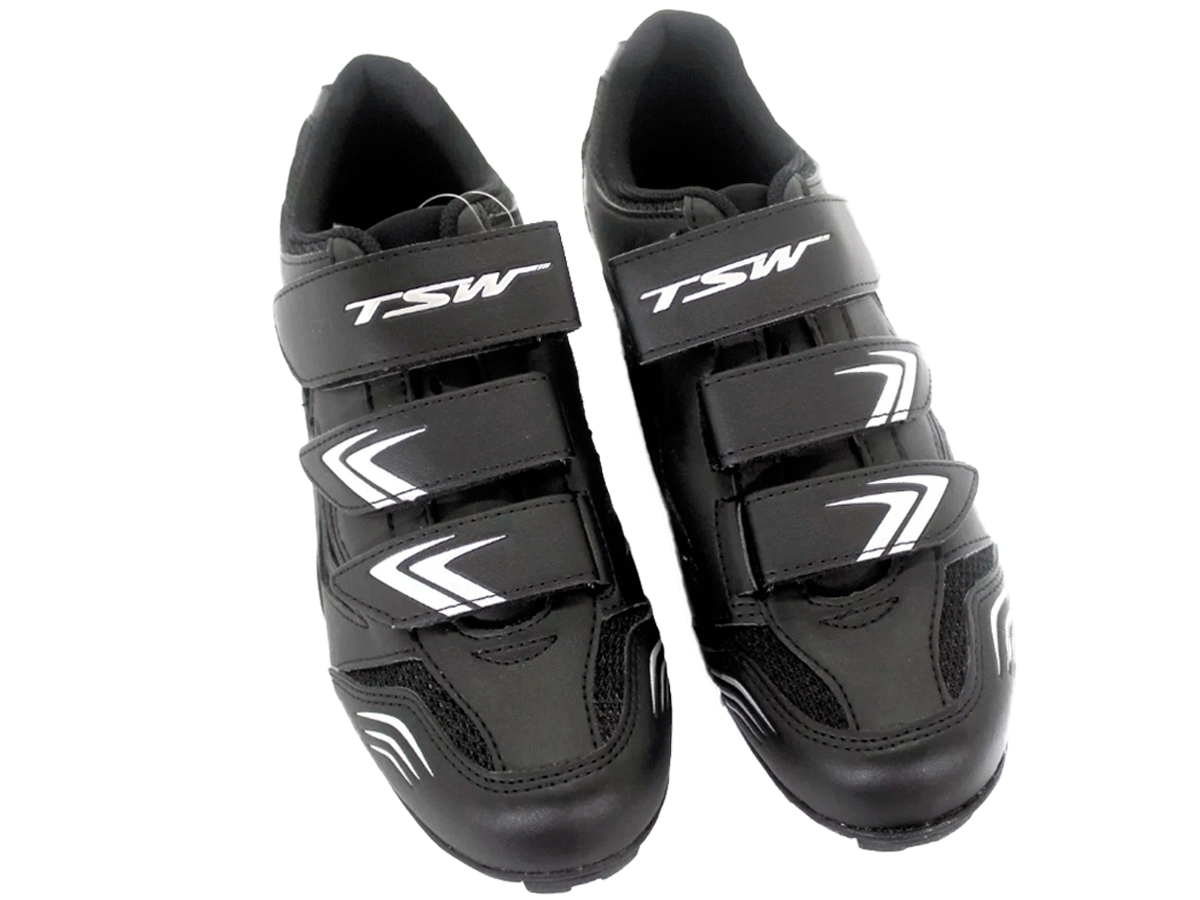 Sapatilha Mtb Ciclismo Tsw New Fit + Pedal Wellgo C2 Plataforma
