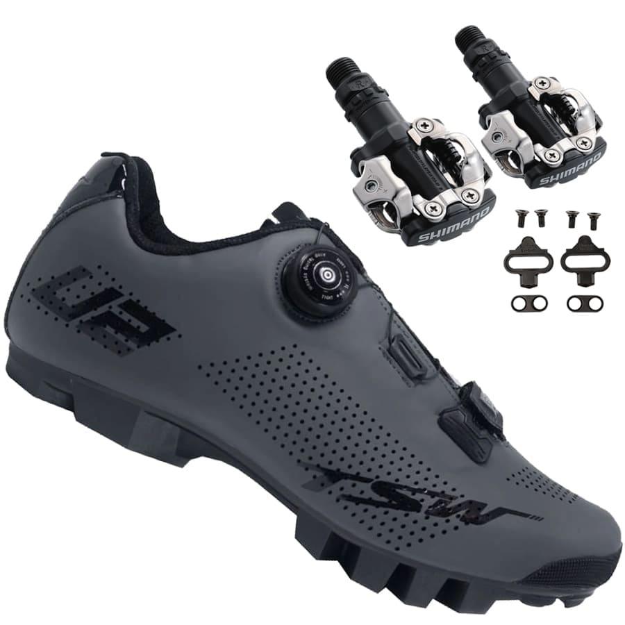 Sapatilha Mtb Ciclismo Tsw Smart II Cinza + Pedal Shimano M520