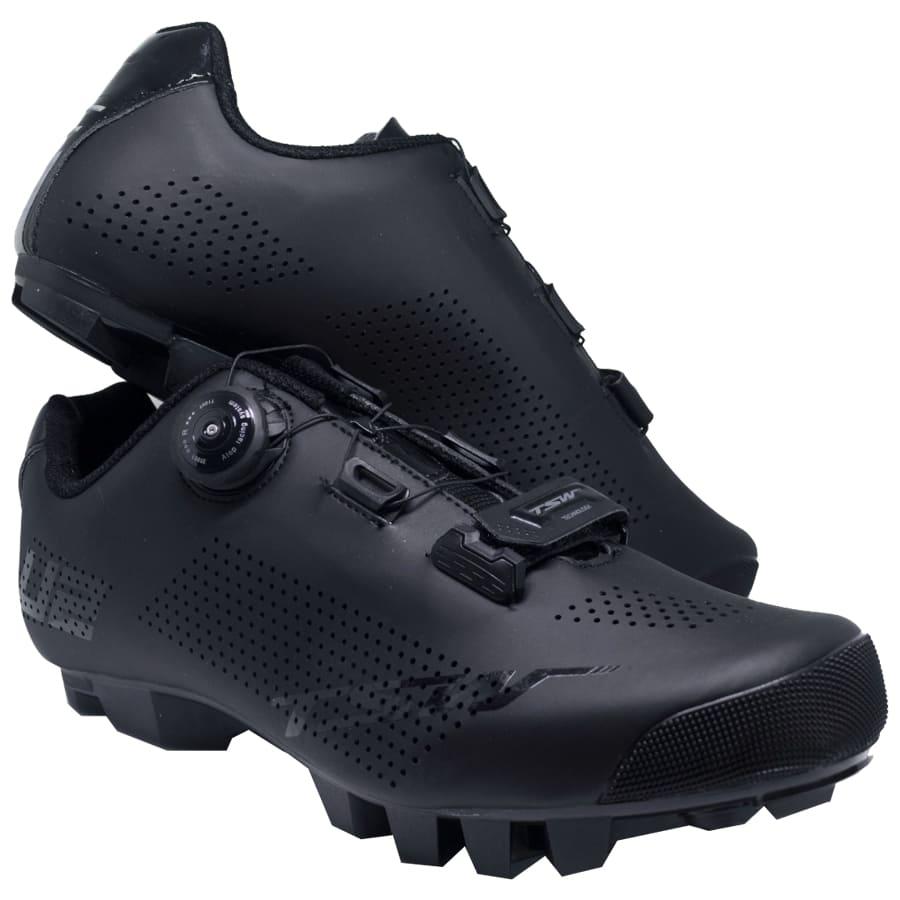 Sapatilha Mtb Ciclismo Tsw Smart II Preta + Pedal Wellgo M919