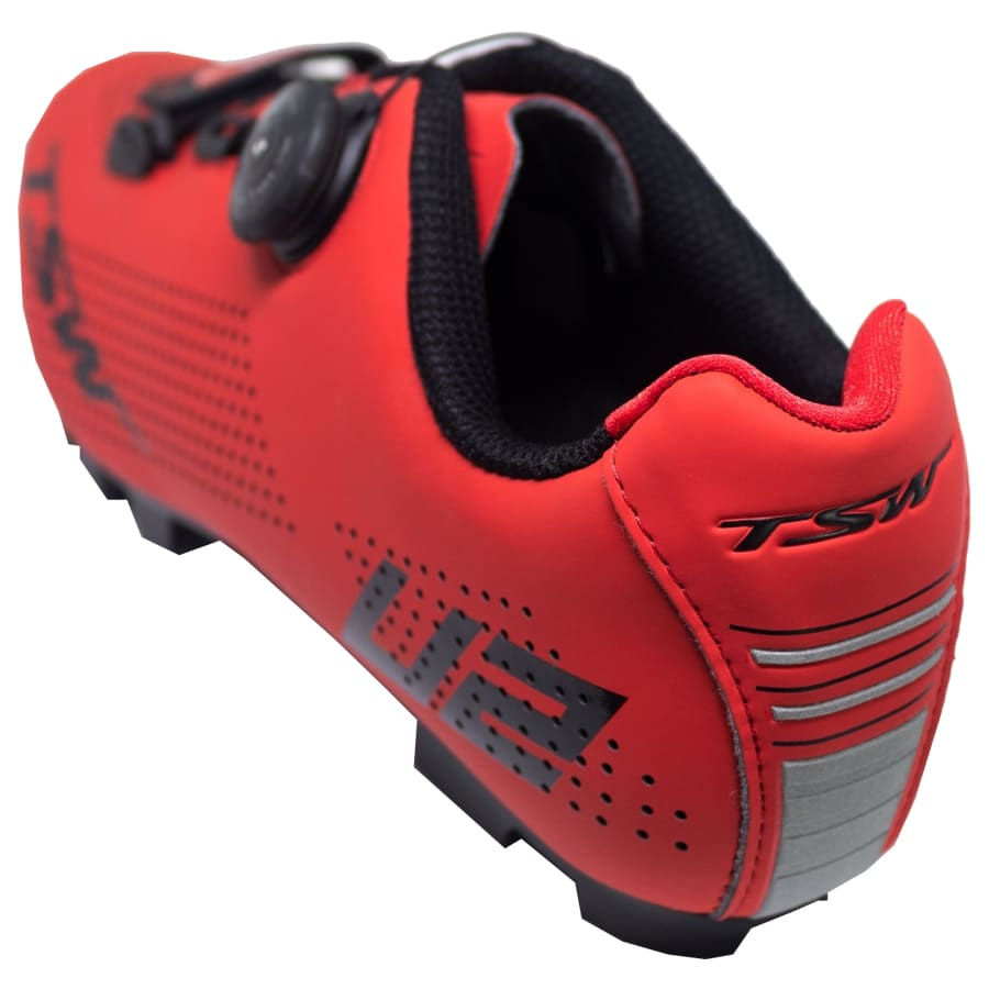 Sapatilha Mtb Ciclismo Tsw Smart II Vermelha + Pedal Shimano M505