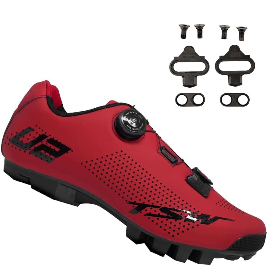 Sapatilha Mtb Ciclismo Tsw Smart II Vermelha + Tacos Shimano SH51