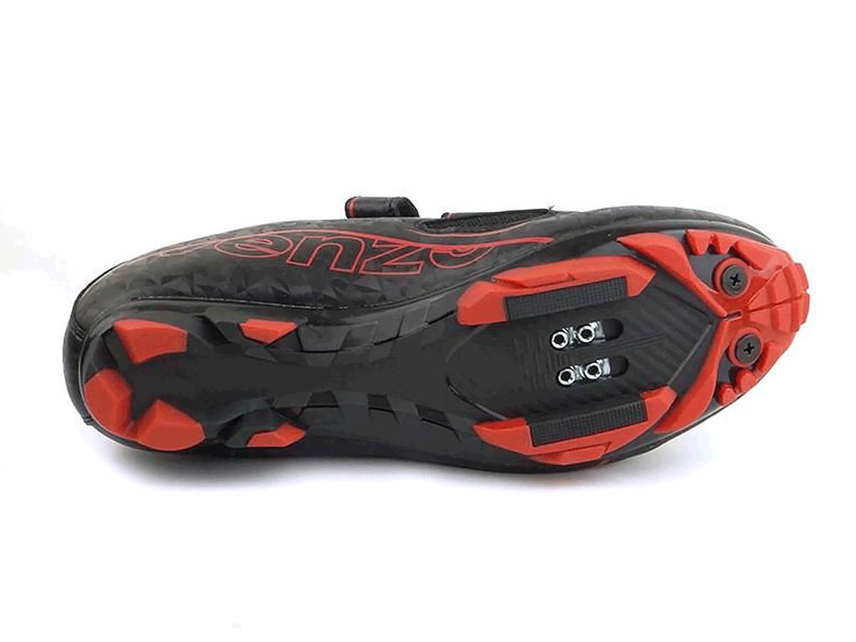 Sapatilha Mtb Ciclismo Venzo Evo Vsx Vermelha + Pedal Shimano M520