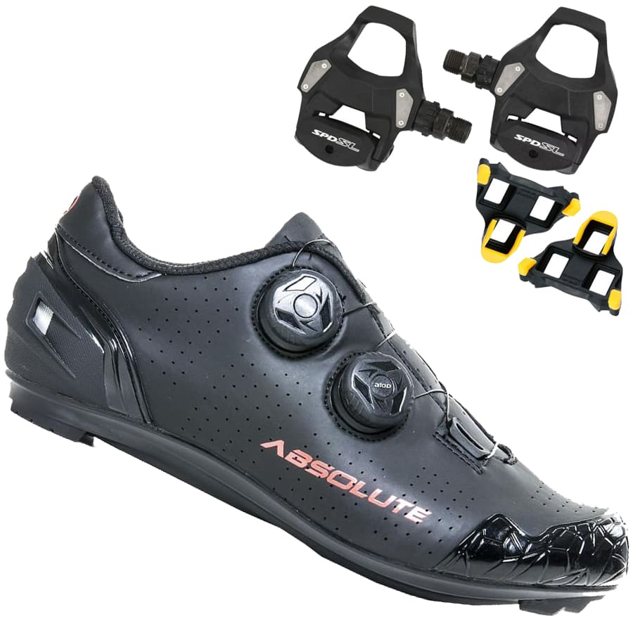 Sapatilha Speed Ciclismo Absolute Prime II + Pedal Shimano RS500
