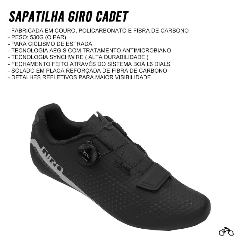 Sapatilha Speed Ciclismo Giro Cadet Preta