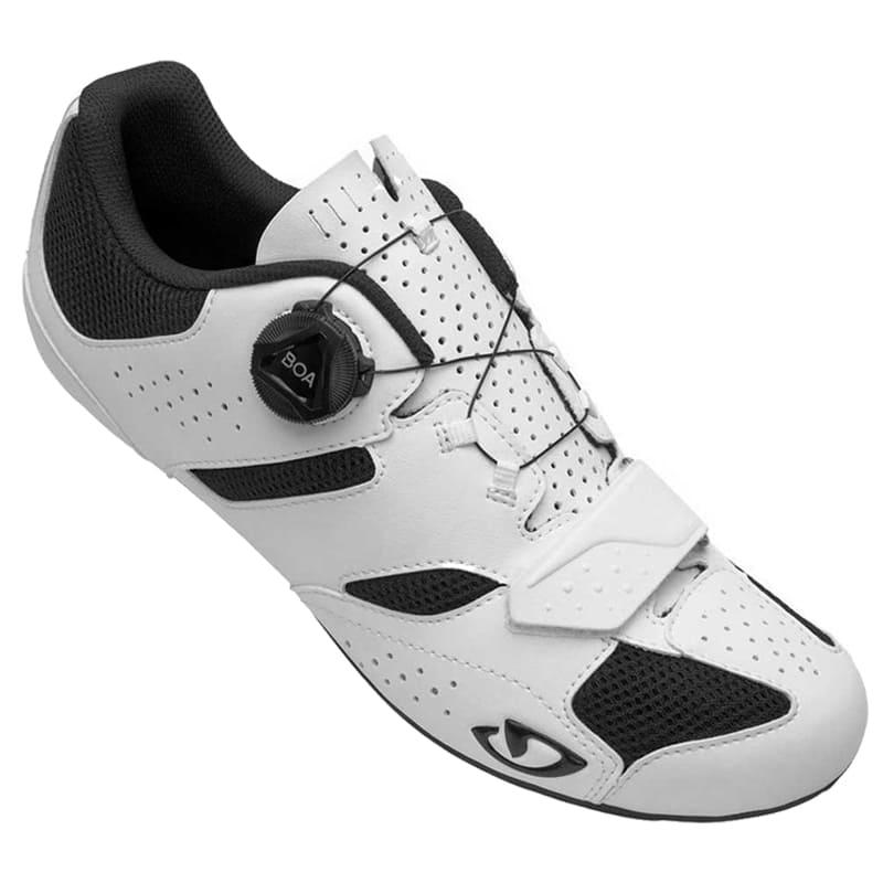 Sapatilha Speed Ciclismo Giro Savix II Branca + Pedal Clip Speed Wellgo R096B