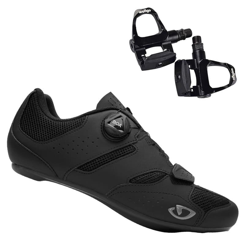 Sapatilha Speed Ciclismo Giro Savix II + Pedal Clip Speed Wellgo R096B