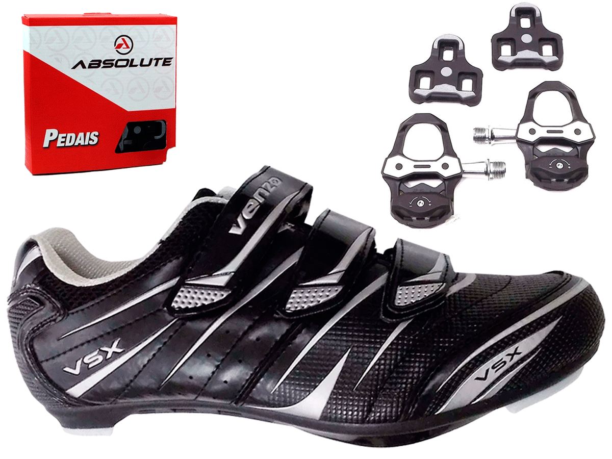 24059363a Sapatilha Speed Venzo Ciclismo + Pedal Absolute Prime - AMA ESPORTE SHOP