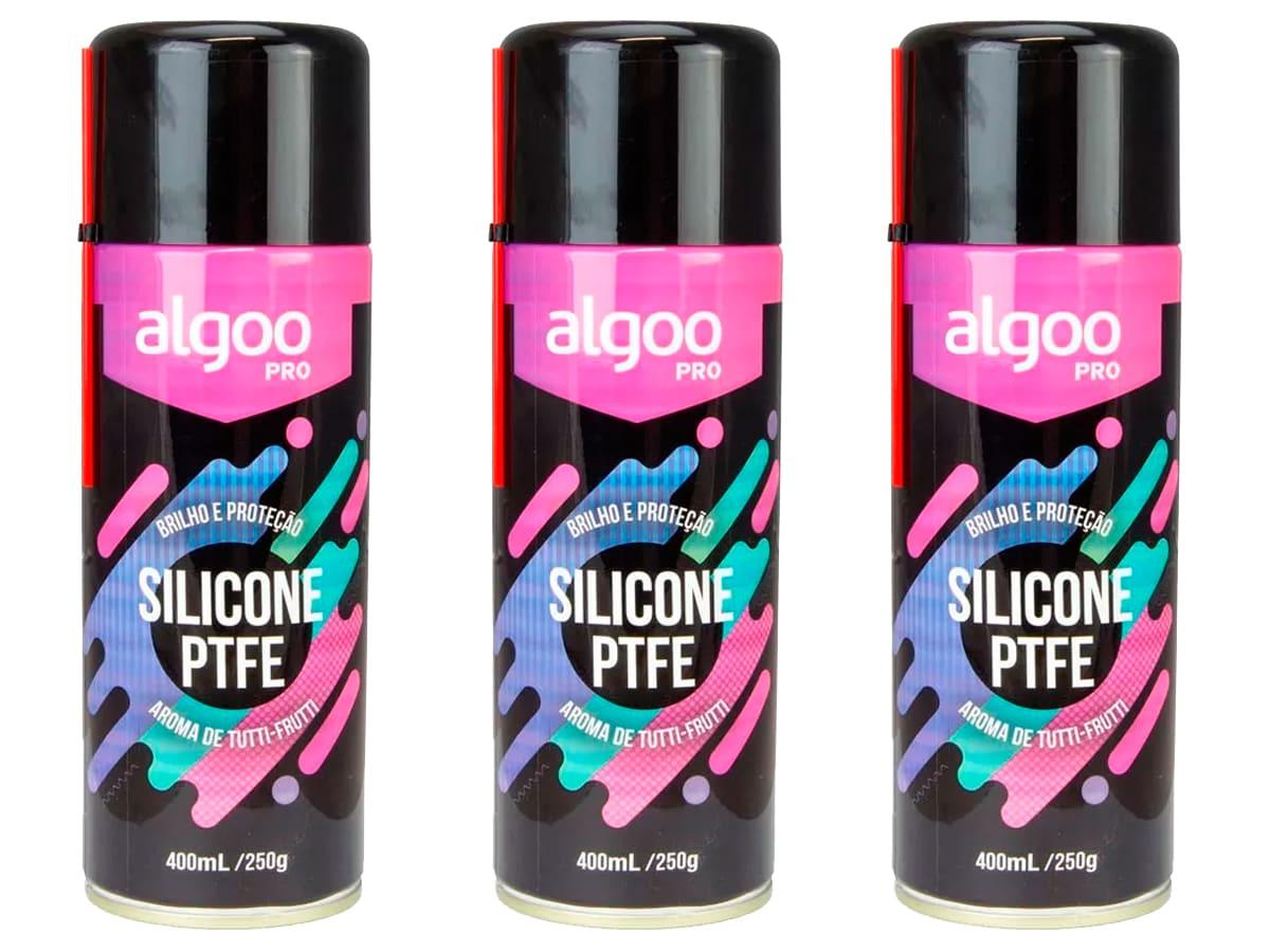 Silicone de Bicicleta Algoo Pro Ptfe Spray 400 ml 3 Unidades Mtb Speed