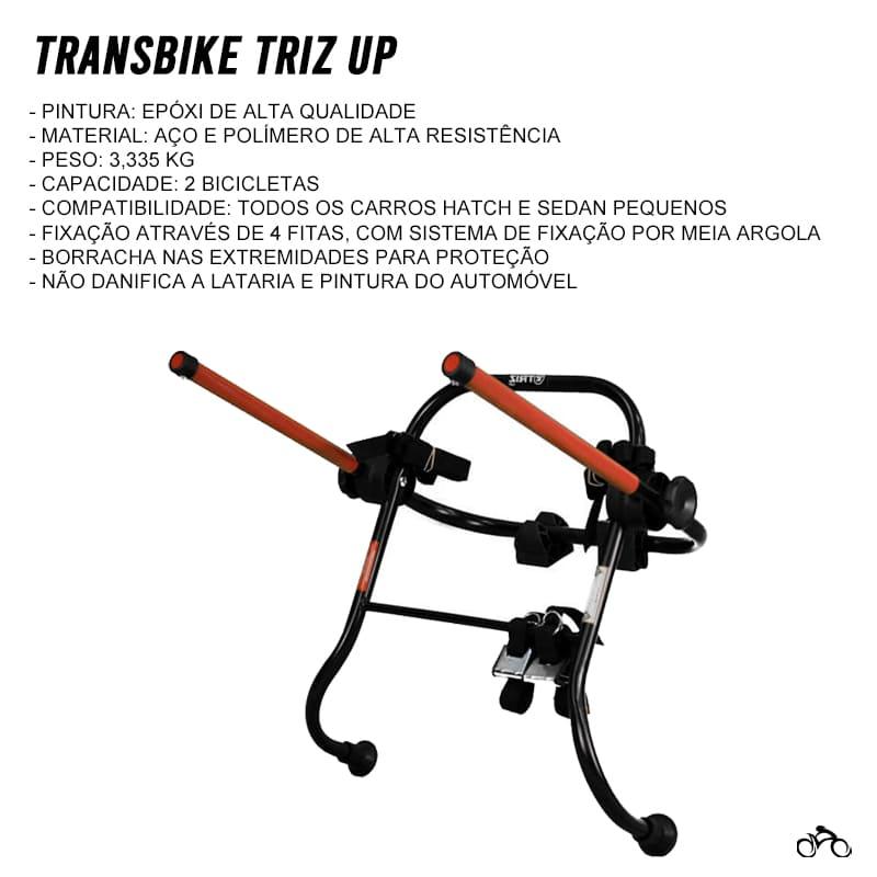Suporte Transbike Universal Porta Malas 2 Bicicletas Mtb Speed
