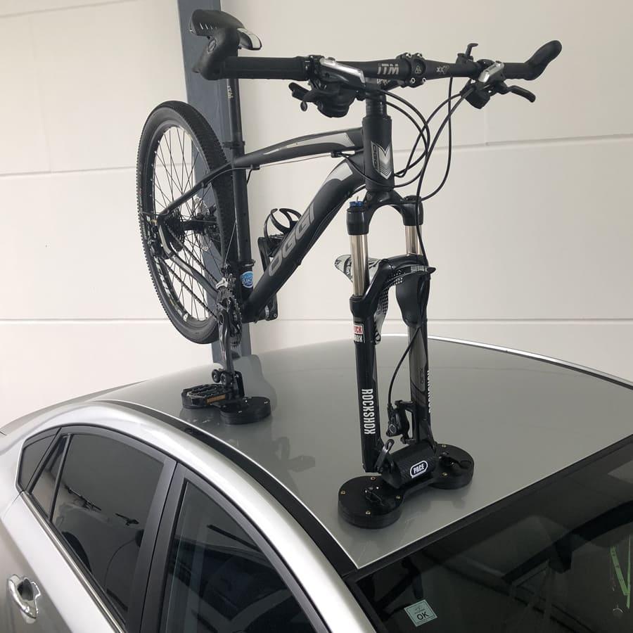 Transbike de Teto com Ventosas Pace Triplo Carbon Mtb Speed