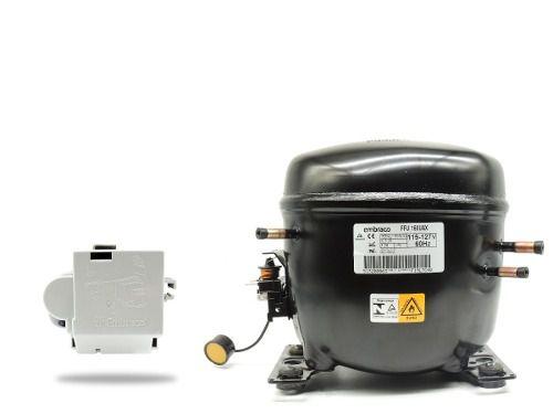 Motor Compressor Para Freezer, Geladeira, Cervejeira, Balcões Expositores Com Gás R-290 Ffu160 Uax 1/2 hp