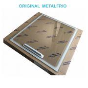 Tampa de Vidro Freezer Metalfrio HF40  antigo Sup 56,8 x 63,2  090150T746