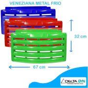 Veneziana / carenagem/ roda pé/ saia metalfrio, cor vermelho