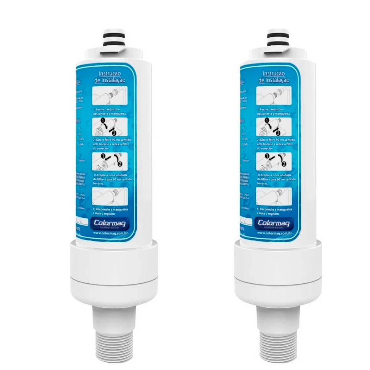 2 Refil Filtro Do Purificador D Água Colormaq Premium Original V2 125.0.001.1