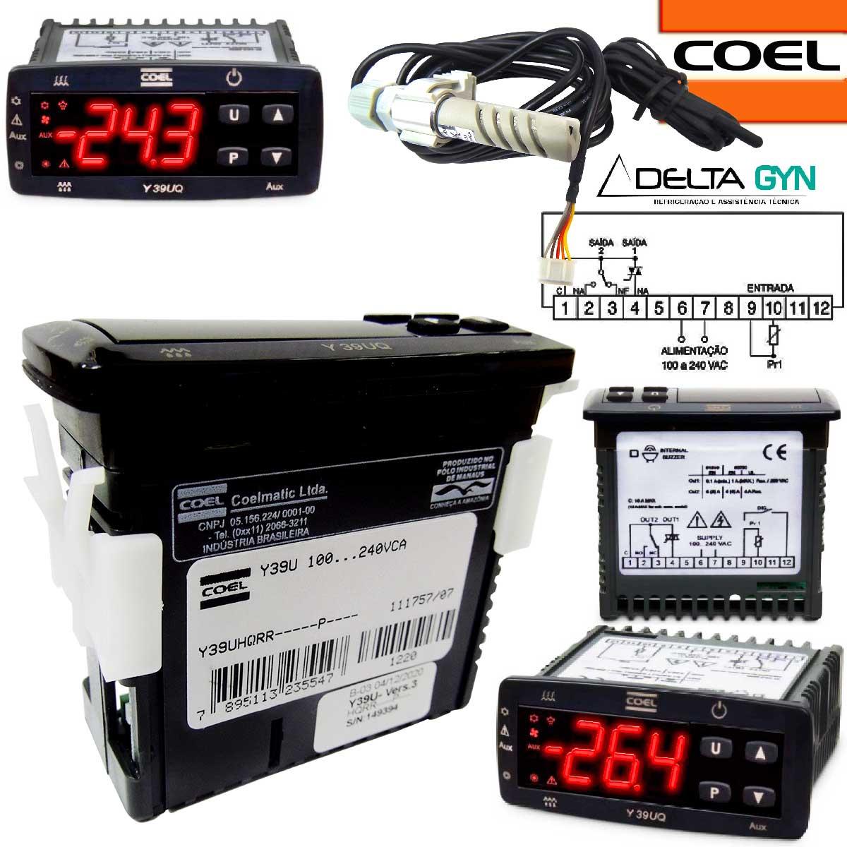 Controlador de temperatura para chocadeira, Incubadora com controle de Umidade Y39UHQRR-----P----