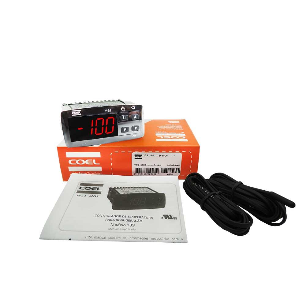 Controlador de temperatura Y39HRRR Coel para Refrigeração Substituto para controlador TC900 da cervejeira Full Gauge