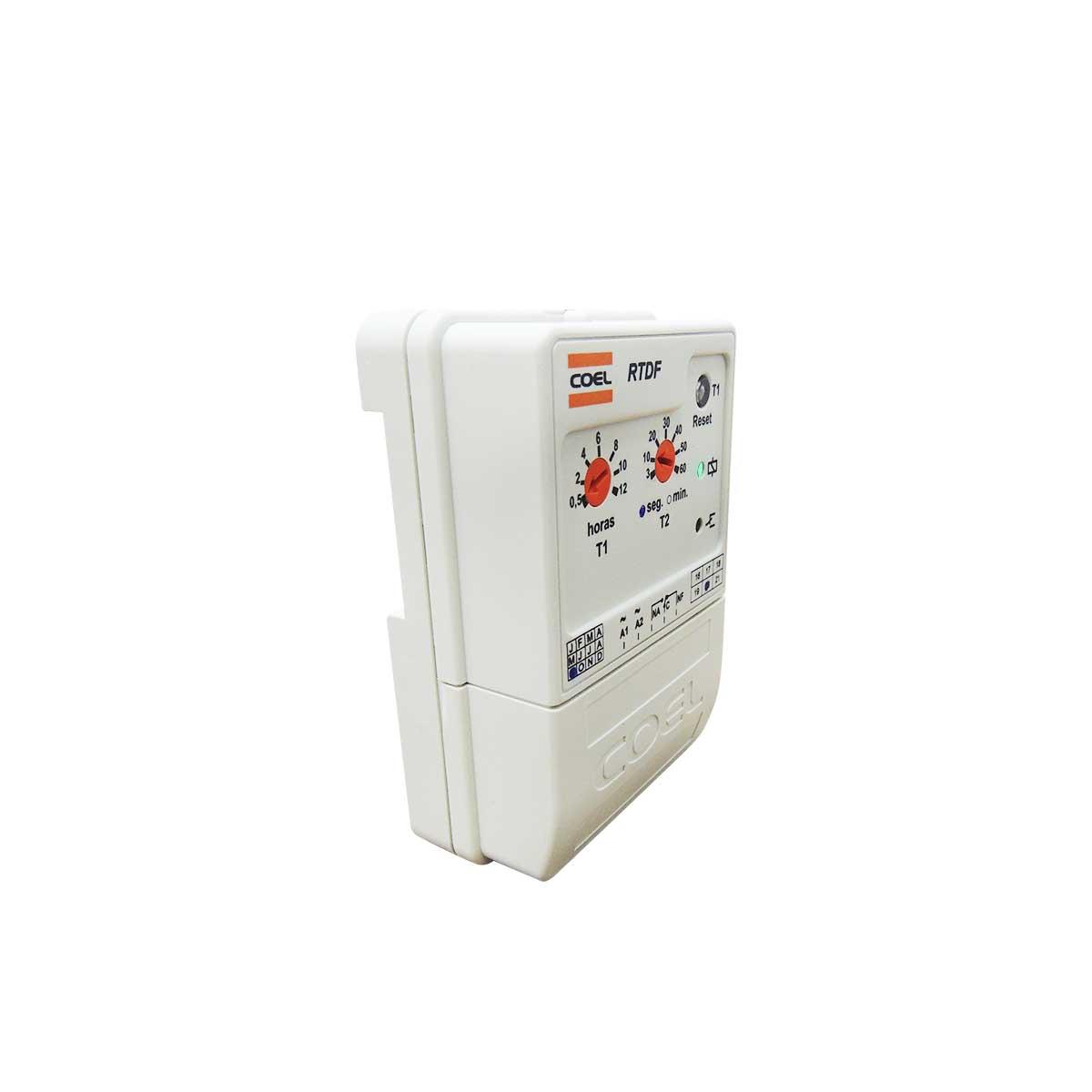 Controlador Temporizador Rele para Desgelo cíclico RTDF Coel 12H 60S 94 A 242VCA