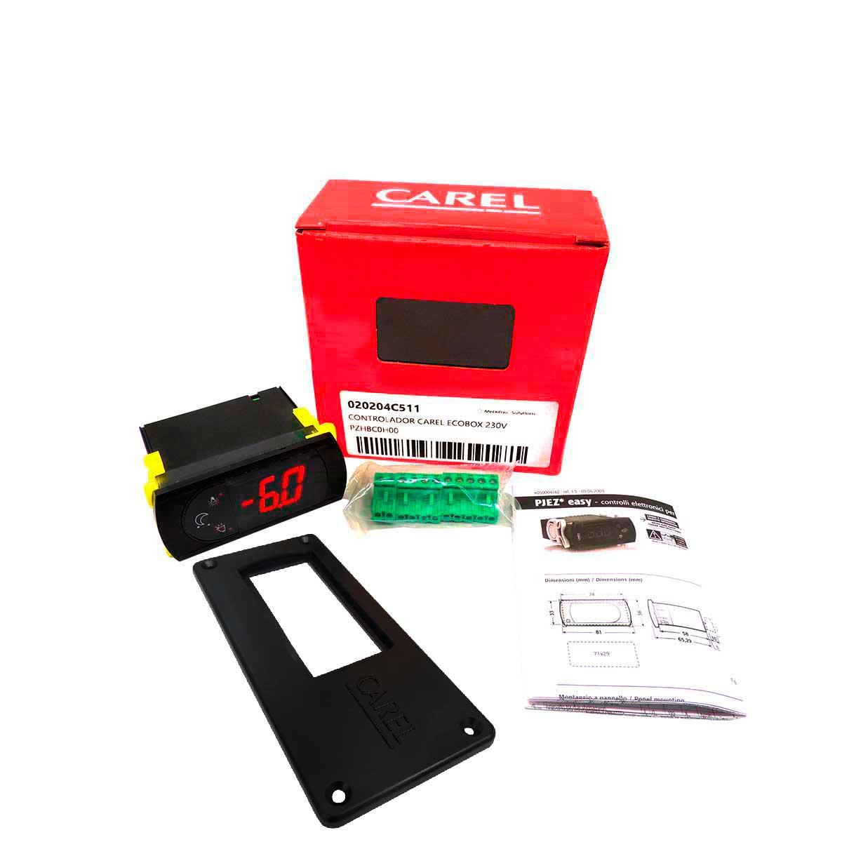 Display Controlador ECOBOX Carel para Equipamento Metalfrio VB43R VB52 e CocaCola EMS55