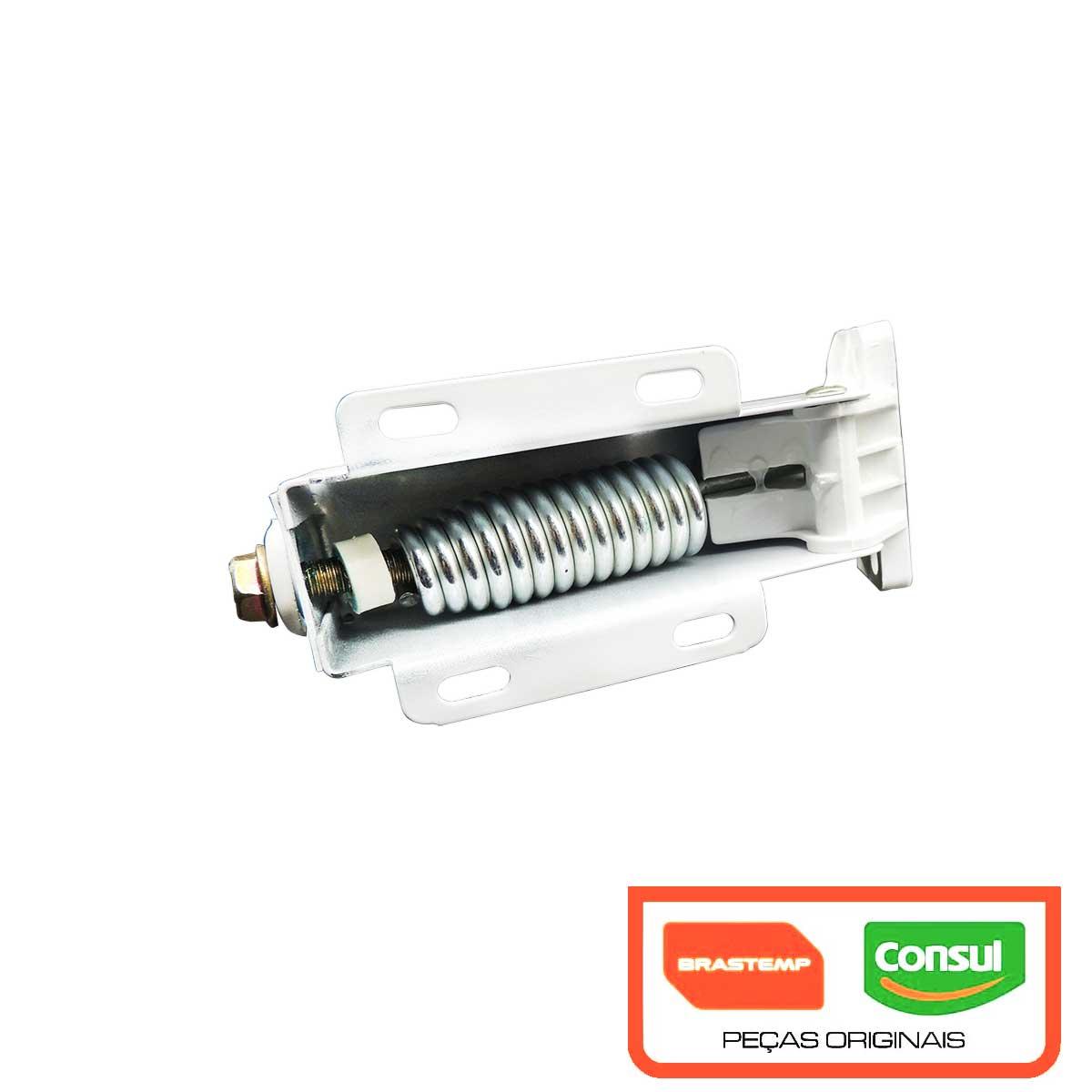 Dobradiça para tampa porta do Freezer horizontal Consul Brastemp com mola 004197305