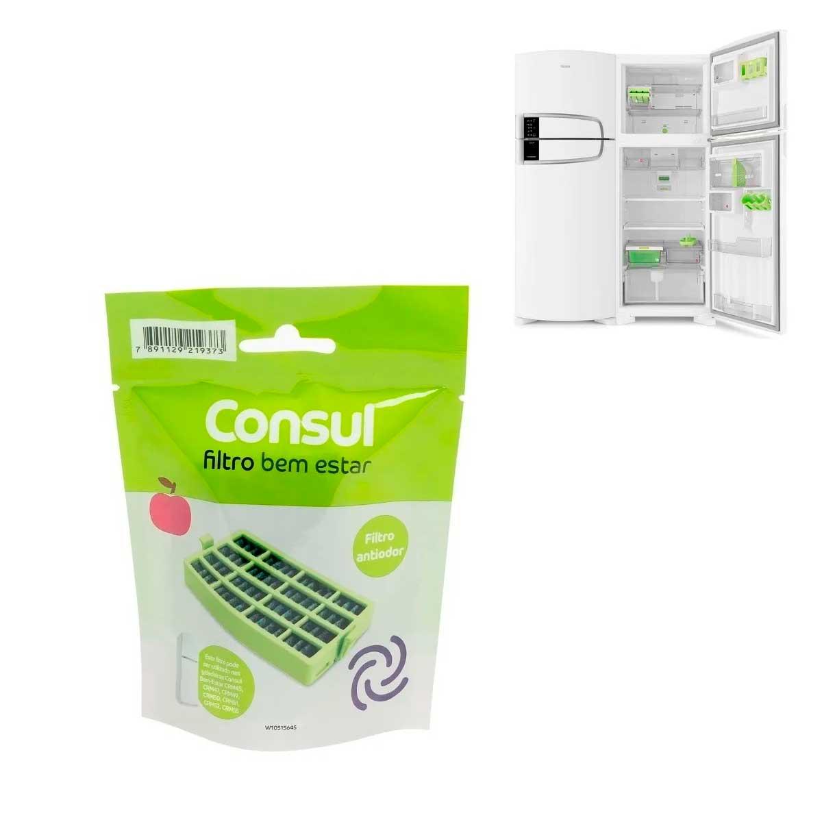 Filtro Antibactéria Antiodor Refrigerador Consul Bem Estar W10515645