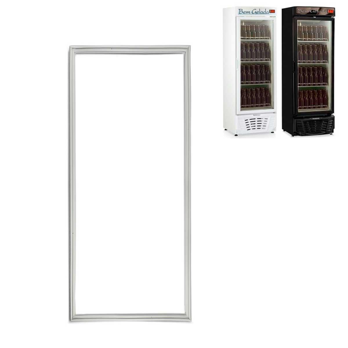 Gaxeta borracha Cervejeira Gelopar GRBA-450PVA (porta de vidro)  medidas 64 X 146 008326.01