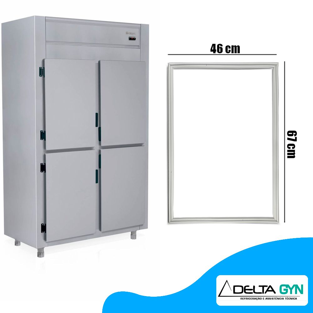 Gaxeta Borracha da geladeira Gelopar GREP 4 e 6 portas 46 x 67 GRCS-2P 4P 6P 006342.02