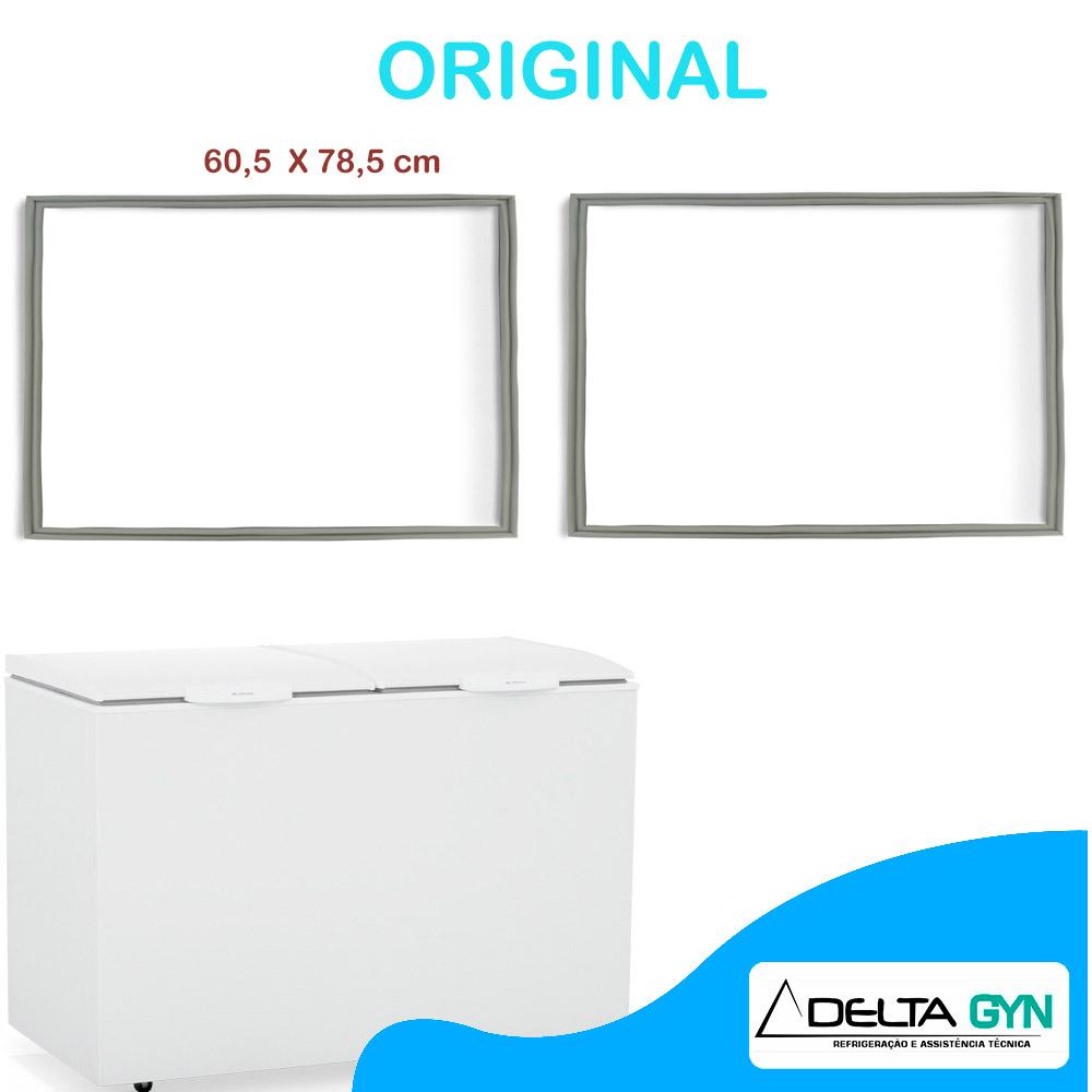 Gaxeta borracha freezer horizontal Gelopar modelo  GHBA 220 e 510 litros 78 X 60  003541