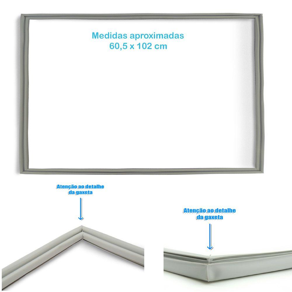 Gaxeta borracha freezer horizontal Gelopar modelo GHBA 310 78 X 60 003542