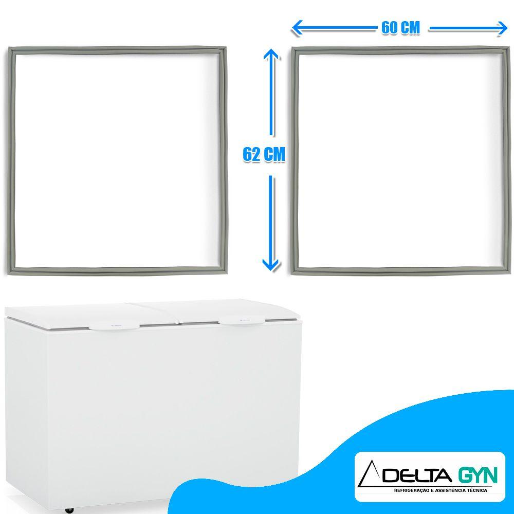 Gaxeta borracha freezer horizontal Gelopar modelo  GHBA 410 62 X 60 003543
