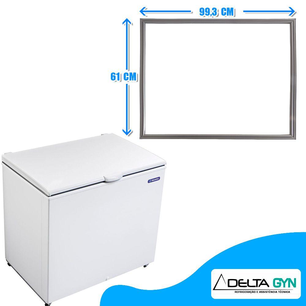 Gaxeta borracha freezer horizontal Metalfrio modelo DA301 e DA302 020107G617