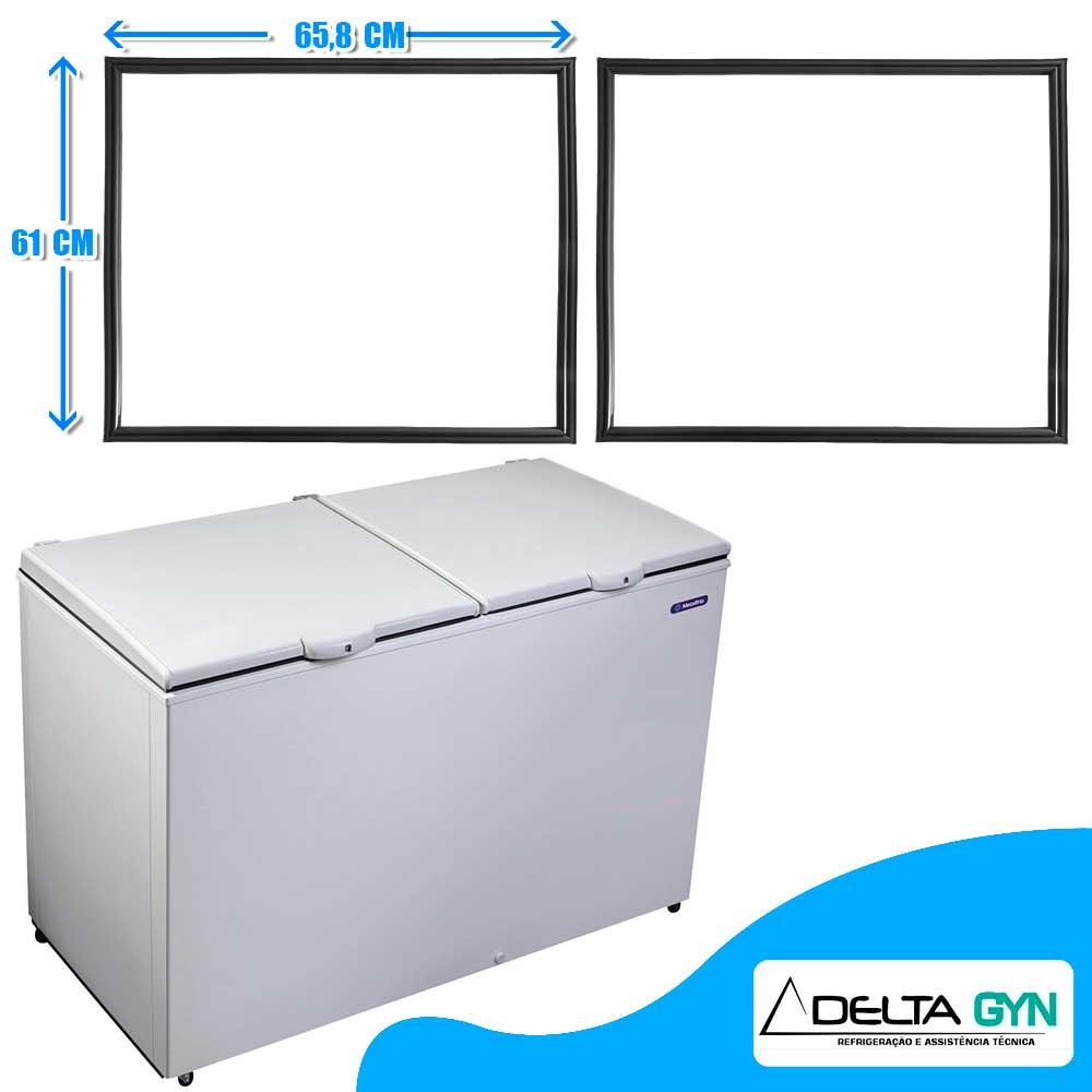Gaxeta borracha freezer horizontal Metalfrio modelo  DA420  61 x 65  020107G301