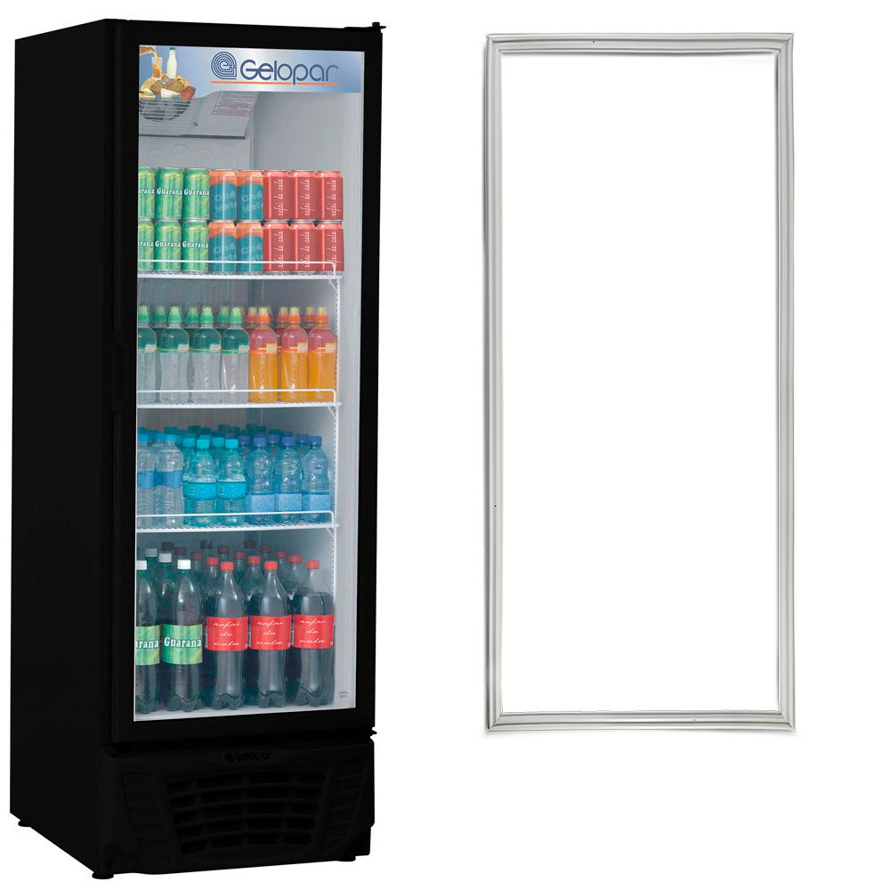 Gaxeta Borracha geladeira ou expositor Gelopar GPTU 570 Cinza  160 X 62 006952