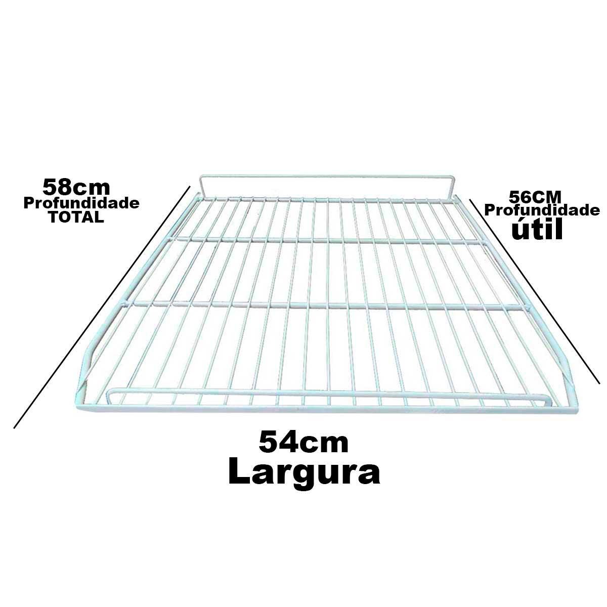 Grade Prateleira Metalfrio Geladeira De Sorvete Vf50 VB50 54x58 020202G050